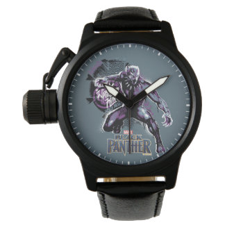 Black Panther | Warrior King Painted Graphic Watch