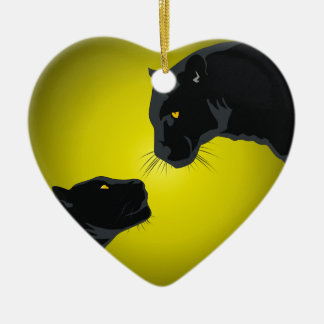 Black panthers christmas ornament