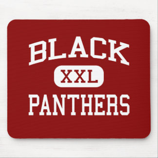 Black - Panthers - Middle School - Houston Texas Mouse Mats