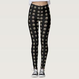Black Pants with Pug Print