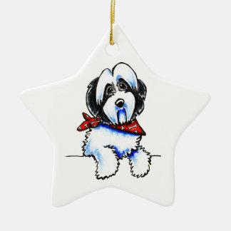 Black Parti Havanese Lil Bone Scarf Christmas Ornament