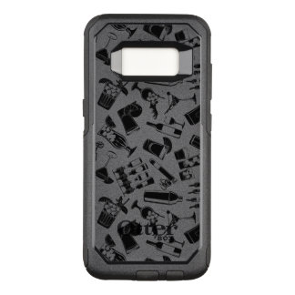 Black Pattern Cocktail Bar OtterBox Commuter Samsung Galaxy S8 Case