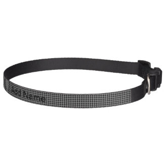 black pattern pet collar