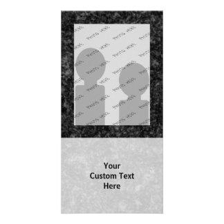 Black Pattern Photo Card