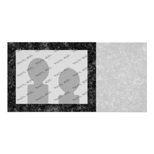 Black Pattern Custom Photo Card