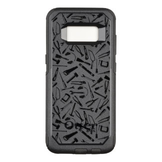 Black Pattern Tools OtterBox Commuter Samsung Galaxy S8 Case