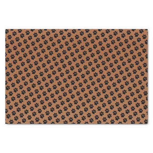 Black Paw Print Pattern Design Tissue Paper