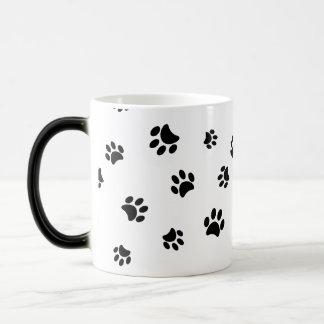 Black Paw Prints Morphing Mug