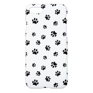 Black Paw Prints Pattern iPhone 7 Case