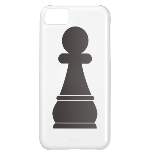 Black pawn chess piece case for iPhone 5C