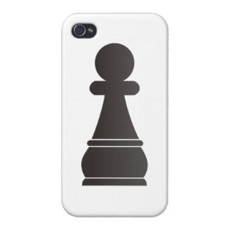 Black pawn chess piece iPhone 4/4S covers