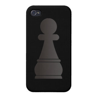 Black pawn chess piece iPhone 4/4S cases