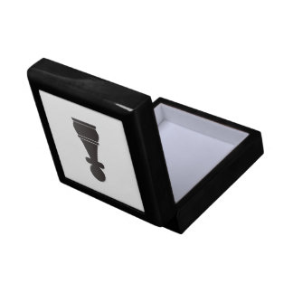 Black Pawn Chess Piece Small Square Gift Box