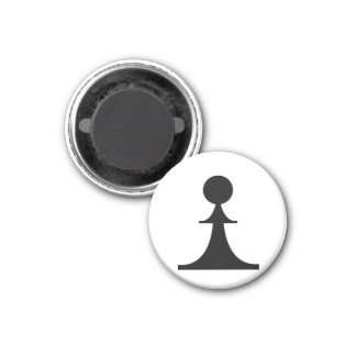 black pawn (you need 8) 3 cm round magnet