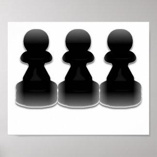 Black pawns - print