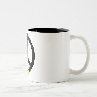 Black Peace & Ribbon Coffee Mug