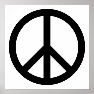 Black Peace Symbol Poster