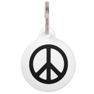Black Peace Symbol Template Pet Tag