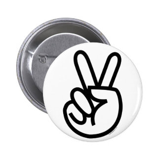 Black Peace V-Sign Buttons
