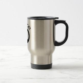 Black Peace & Word Coffee Mugs