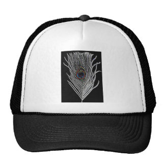 Black Peacock Feather Cap