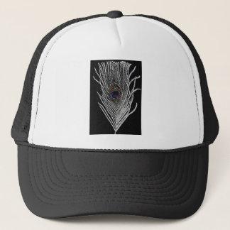 Black Peacock Feather Trucker Hat