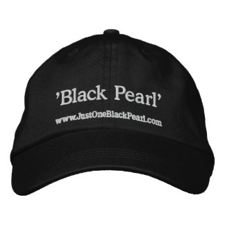 Black Pearl Embroidered Hat