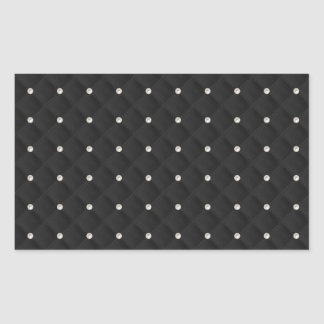 Black Pearl Stud Quilted Rectangular Sticker