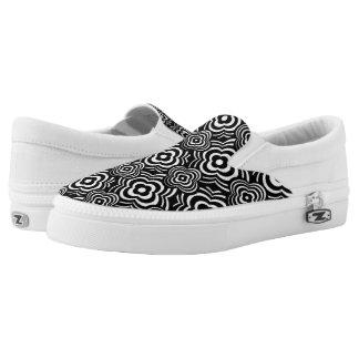 Black Peddler Printed Shoes