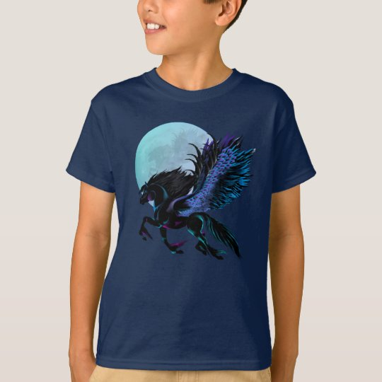 Black Pegasus and Blue Moon T-Shirt