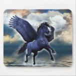 Black Pegasus Mouse Pad