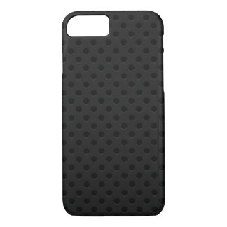Black Perforated Fiber iPhone 7 Case