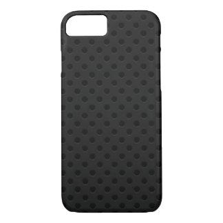 Black Perforated Fiber iPhone 7 Case