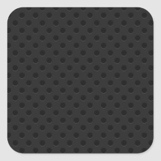Black Perforated Pinhole Fiber Square Sticker