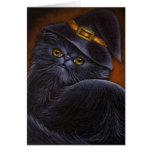Black Persian Cat Card