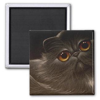 BLACK PERSIAN CAT Magnet