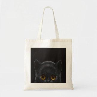 BLACK PERSIAN CAT PEEKABOO 1 Budget Tote