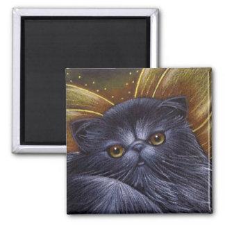 Black Persian Fairy Cat Magnet