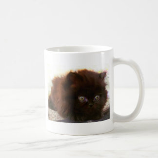 Black Persian Kitten mug