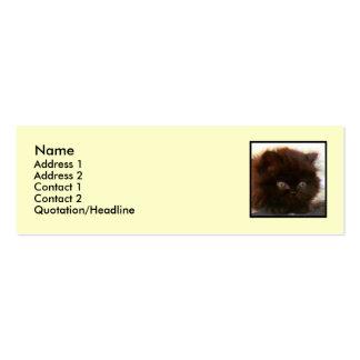 Black Persian Kitten Skinny business cards