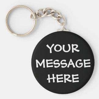 Black Personalized Key Rings for Men Key Chain