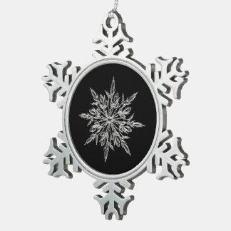 Black & Pewter Snowflake Ornament