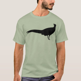 Black Pheasant Bird Animal Print T-Shirt