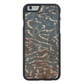 Black Pheasant Feather Abstract Carved Maple iPhone 6 Case