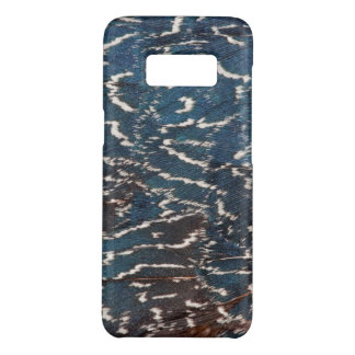 Black Pheasant Feather Abstract Case-Mate Samsung Galaxy S8 Case