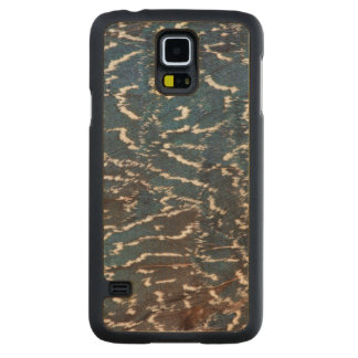Black Pheasant Feather Abstract Maple Galaxy S5 Slim Case