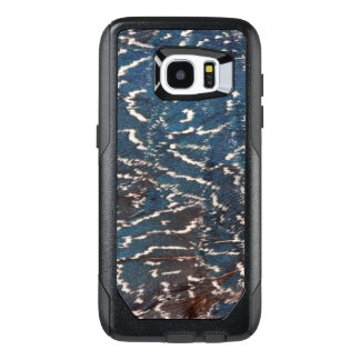 Black Pheasant Feather Abstract OtterBox Samsung Galaxy S7 Edge Case