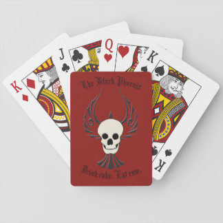 Black Phoenix Playing Cards