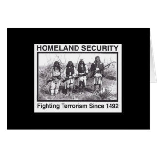 Black Photo Indian Homeland Security Greeting Card