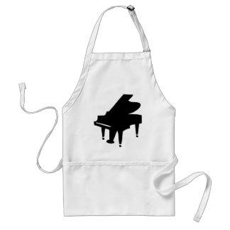 black piano icon standard apron